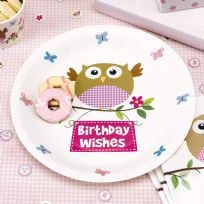 Little Owls Pink Plates (8)